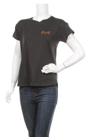 Дамска тениска Massimo Dutti, Размер S, Цвят Сив, Памук, Цена 19,32лв.