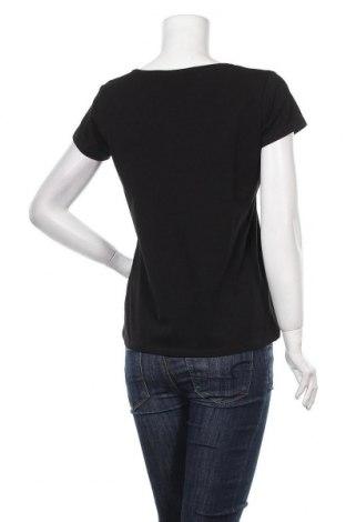 Дамска тениска Massimo Dutti, Размер L, Цвят Черен, 92% памук, 8% еластан, Цена 20,65лв.