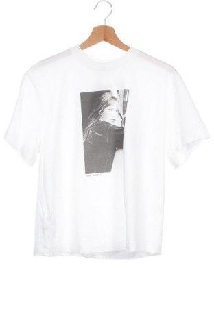 Дамска тениска Massimo Dutti, Размер XS, Цвят Бял, Памук, Цена 15,40лв.