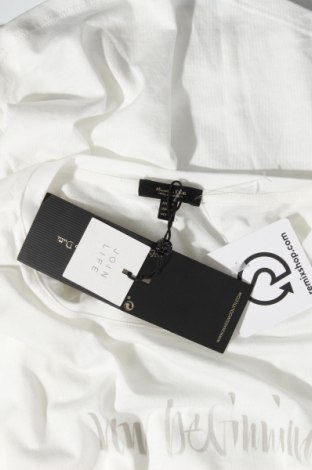Дамска тениска Massimo Dutti, Размер M, Цвят Бял, 67% лиосел, 33% памук, Цена 20,30лв.