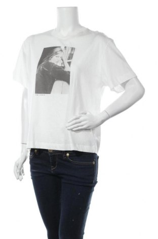 Дамска тениска Massimo Dutti, Размер M, Цвят Бял, Памук, Цена 11,00лв.