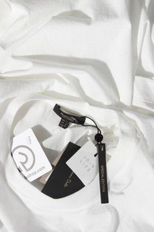 Дамска тениска Massimo Dutti, Размер L, Цвят Бял, Памук, Цена 13,20лв.