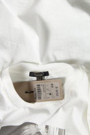 Дамска тениска Massimo Dutti, Размер XS, Цвят Бял, Памук, Цена 13,20лв.