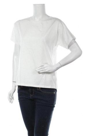 Дамска тениска Massimo Dutti, Размер S, Цвят Бял, Памук, Цена 20,65лв.