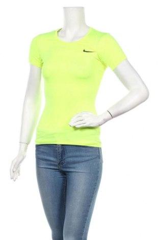 Дамска тениска Nike, Размер XS, Цвят Жълт, Цена 28,00лв.