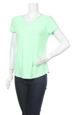 Дамска тениска No Boundaries, Размер L, Цвят Зелен, 92% полиестер, 8% еластан, Цена 8,82лв.