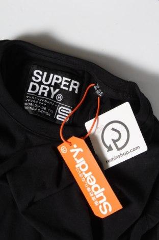 Дамска тениска Superdry, Размер S, Цвят Черен, Памук, Цена 66,75лв.
