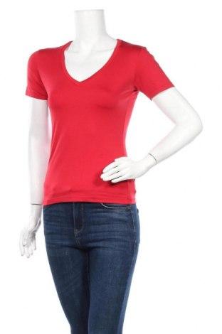 Дамска тениска Zero, Размер S, Цвят Червен, 92% полиамид, 8% еластан, Цена 5,88лв.
