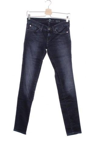 Γυναικείο Τζίν 7 For All Mankind, Μέγεθος XS, Χρώμα Μπλέ, 98% βαμβάκι, 2% ελαστάνη, Τιμή 13,36€