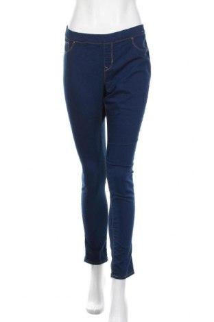Дамски дънки Denim&Co., Размер L, Цвят Син, 76% памук, 23% полиестер, 1% еластан, Цена 18,48лв.
