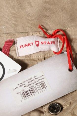 Дамски дънки Funky Staff, Размер XS, Цвят Бежов, 95% памук, 5% еластан, Цена 17,25лв.