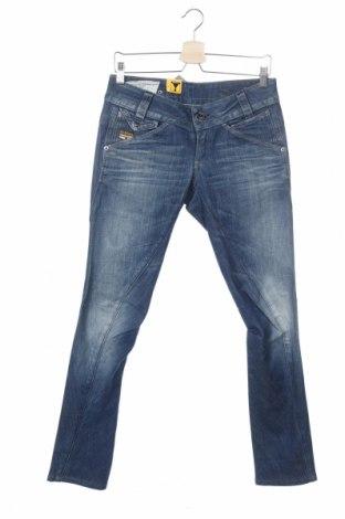 Дамски дънки G-Star Raw, Размер M, Цвят Син, 98% памук, 2% еластан, Цена 179,25лв.