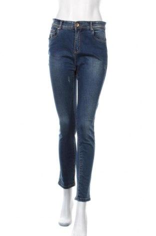 Дамски дънки Laura Torelli, Размер M, Цвят Син, 78% памук, 20% полиестер, 2% еластан, Цена 20,95лв.