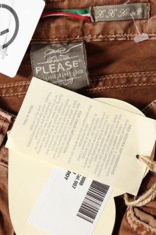 Дамски дънки Please, Размер XXS, Цвят Кафяв, 98% памук, 2% еластан, Цена 23,85лв.