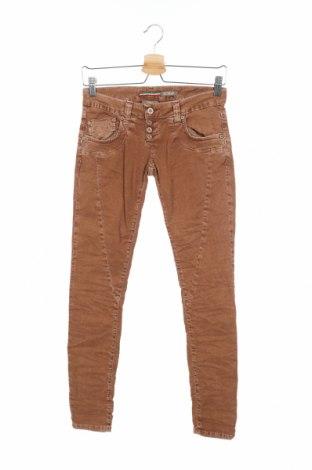 Дамски дънки Please, Размер XS, Цвят Кафяв, 98% памук, 2% еластан, Цена 17,88лв.