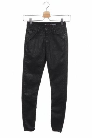 Дамски дънки Please, Размер XXS, Цвят Черен, 84% памук, 11% полиестер, 5% еластан, Цена 12,72лв.