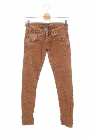 Дамски дънки Please, Размер XS, Цвят Кафяв, 98% памук, 2% еластан, Цена 23,85лв.