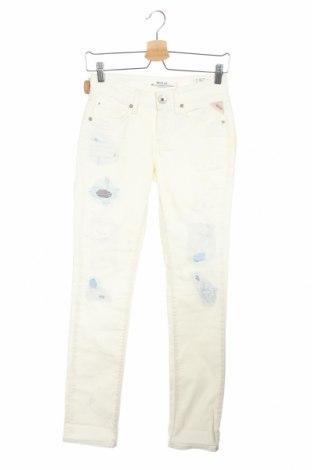Дамски дънки Replay, Размер XS, Цвят Екрю, 98% памук, 2% еластан, Цена 179,25лв.