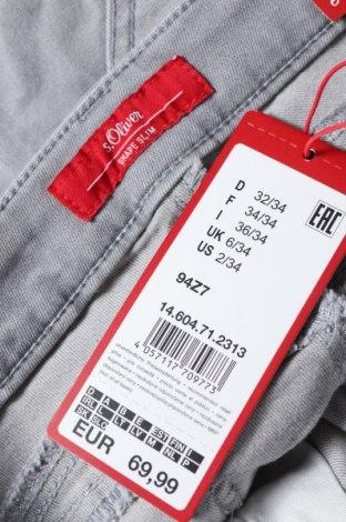 Дамски дънки S.Oliver, Размер XS, Цвят Сив, 92% памук, 7% полиестер, 1% еластан, Цена 24,00лв.