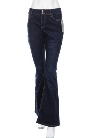 Дамски дънки Tinsels, Размер M, Цвят Син, 69% памук, 27% полиестер, 3% други тъкани, 1% еластан, Цена 32,55лв.
