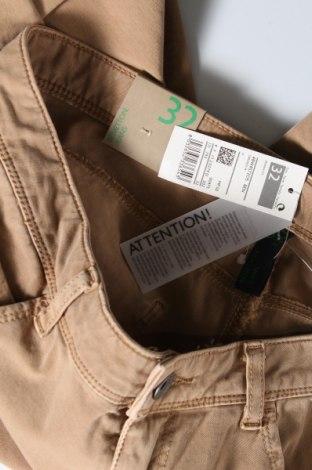Дамски дънки United Colors Of Benetton, Размер L, Цвят Бежов, 92% памук, 8% еластан, Цена 26,70лв.