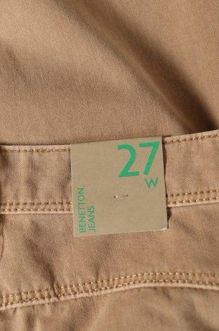 Дамски дънки United Colors Of Benetton, Размер XS, Цвят Бежов, 92% памук, 8% еластан, Цена 26,70лв.