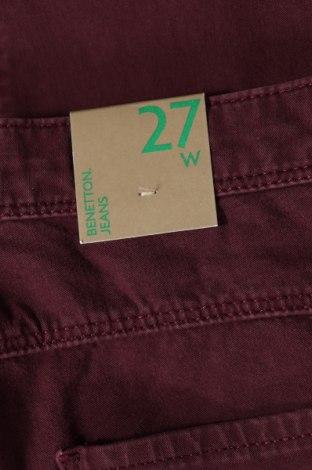 Дамски дънки United Colors Of Benetton, Размер XS, Цвят Червен, 92% памук, 8% еластан, Цена 22,25лв.