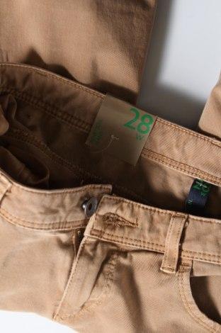 Дамски дънки United Colors Of Benetton, Размер S, Цвят Бежов, 92% памук, 8% еластан, Цена 26,70лв.