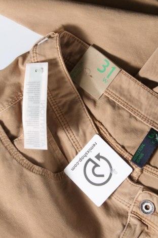 Дамски дънки United Colors Of Benetton, Размер L, Цвят Бежов, 92% памук, 8% еластан, Цена 22,25лв.