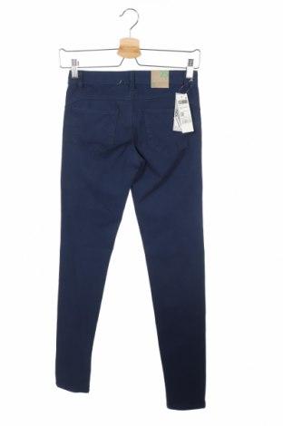 Дамски дънки United Colors Of Benetton, Размер XS, Цвят Син, 92% памук, 8% еластан, Цена 22,25лв.