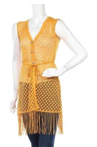 Дамски елек, Размер S, Цвят Жълт, Цена 6,30лв.