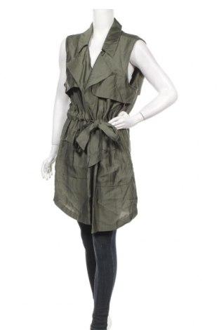 Дамски елек Trouve, Размер XXL, Цвят Зелен, 87% модал, 13% полиестер, Цена 13,70лв.