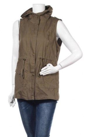 Дамски елек Zenana Outfitters, Размер L, Цвят Зелен, Памук, Цена 14,18лв.