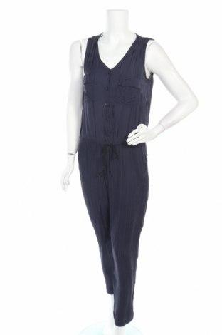 Дамски гащеризон Zara, Размер M, Цвят Син, Вискоза, Цена 17,64лв.