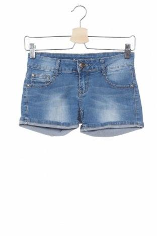 Γυναικείο κοντό παντελόνι, Μέγεθος XS, Χρώμα Μπλέ, 75% βαμβάκι, 22% πολυεστέρας, 3% ελαστάνη, Τιμή 8,28€
