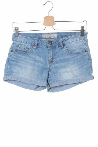 Γυναικείο κοντό παντελόνι Amisu, Μέγεθος XS, Χρώμα Μπλέ, 83% βαμβάκι, 15% πολυεστέρας, 2% ελαστάνη, Τιμή 8,28€