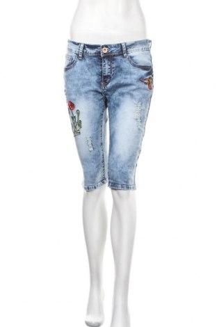 Γυναικείο κοντό παντελόνι G-Smack, Μέγεθος M, Χρώμα Μπλέ, 66% βαμβάκι, 29% πολυεστέρας, 3% βισκόζη, 2% ελαστάνη, Τιμή 11,72€