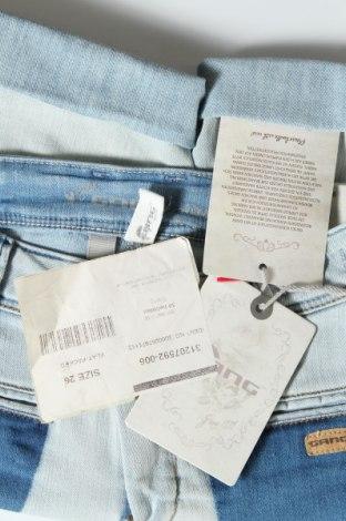 Γυναικείο κοντό παντελόνι Gang, Μέγεθος S, Χρώμα Μπλέ, 71% βαμβάκι, 27% πολυεστέρας, 2% ελαστάνη, Τιμή 28,90€