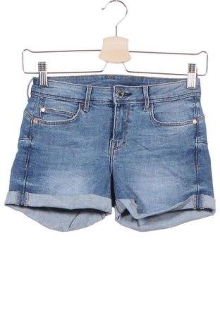 Γυναικείο κοντό παντελόνι H&M, Μέγεθος XS, Χρώμα Μπλέ, 83% βαμβάκι, 15% πολυεστέρας, 2% ελαστάνη, Τιμή 7,53€