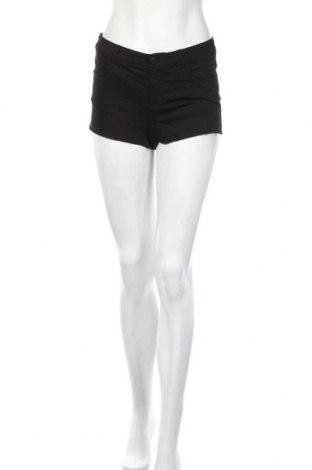 Γυναικείο κοντό παντελόνι H&M Divided, Μέγεθος S, Χρώμα Μαύρο, 62% βαμβάκι, 35% πολυεστέρας, 3% ελαστάνη, Τιμή 8,77€