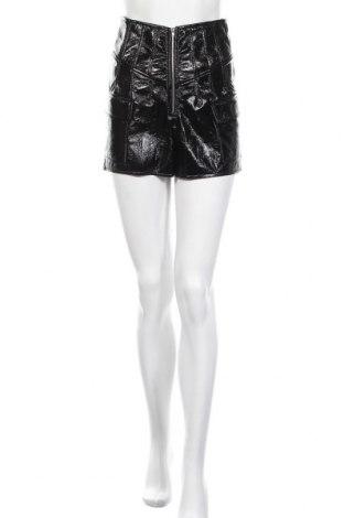 Дамски къс панталон Missguided, Размер S, Цвят Черен, Еко кожа, Цена 22,62лв.