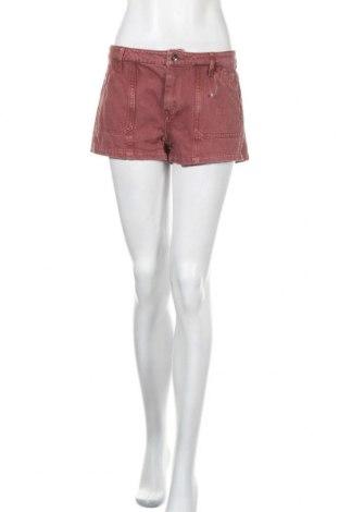 Дамски къс панталон Others Follow, Размер M, Цвят Червен, Памук, Цена 9,18лв.