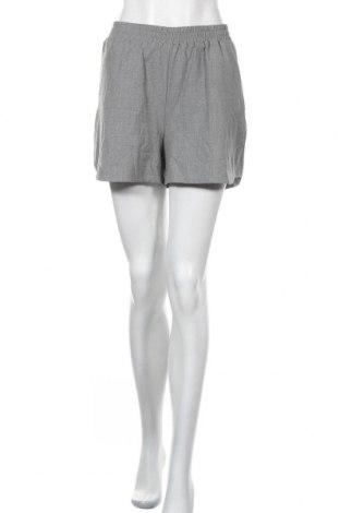 Γυναικείο κοντό παντελόνι Pieces, Μέγεθος S, Χρώμα Γκρί, 62% πολυεστέρας, 33% βισκόζη, 5% ελαστάνη, Τιμή 7,05€