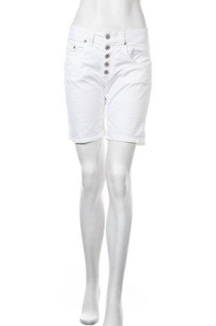 Γυναικείο κοντό παντελόνι Please, Μέγεθος S, Χρώμα Λευκό, 98% βαμβάκι, 2% ελαστάνη, Τιμή 7,73€