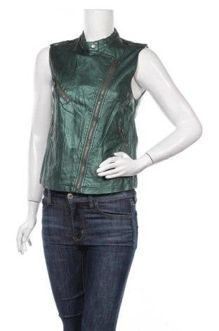 Дамски кожен елек Pimkie, Размер M, Цвят Зелен, Еко кожа, Цена 16,80лв.