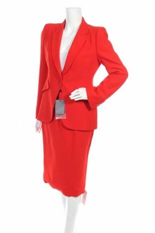 Дамски костюм Alexander Mcqueen, Размер M, Цвят Червен, 52% вискоза, 48% ацетат, Цена 1269,04лв.