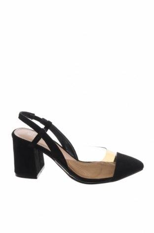 Дамски обувки Glamorous, Размер 36, Цвят Черен, Текстил, полиуретан, Цена 30,09лв.