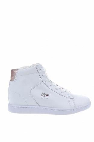 Γυναικεία παπούτσια Lacoste, Μέγεθος 38, Χρώμα Λευκό, Γνήσιο δέρμα, Τιμή 67,81€
