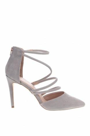 Γυναικεία παπούτσια New Look, Μέγεθος 41, Χρώμα Γκρί, Κλωστοϋφαντουργικά προϊόντα, Τιμή 10,04€