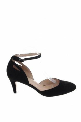 Γυναικεία παπούτσια Pier One, Μέγεθος 41, Χρώμα Μαύρο, Φυσικό σουέτ, Τιμή 42,14€